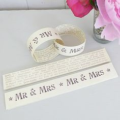 'Mr And Mrs' Paper Chain