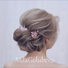 Do you wanna see more fab hairstyle ideas and tips for your wedding? Then, just visit our web site babe! Do you wanna see more fab hairstyle ideas and tips for your wedding? Then, just visit our web site babe! Flower Girl Hairstyles, Braided Hairstyles Updo, Down Hairstyles, Pretty Hairstyles, Hairstyle Ideas, Braided Updo, Hairstyles 2018, Updo Styles, Curly Hair Styles
