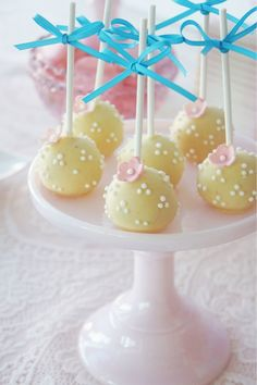 Morgan's Christening styled by My Little Jedi  Cake pops by Sweet Bloom Cakes