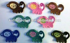 Crochet singe appliqués, Embellissement accessoires Ornement Décor Scrapbooking Motif animal, vue fleurs au crochet, KCC Détails du produit de Shangrao Crochet Knit Craft Factory sur Alibaba.com