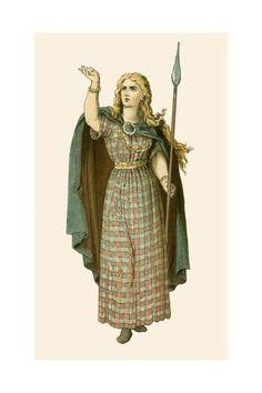 Queen Boadicea Giclee Print by Albert Kretschmer - AllPosters.co.uk