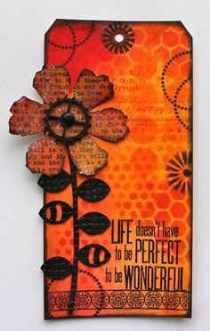 Life doesn't have to be perfect to be wonderful. Love this! By Marjie Kemper. Simple Pleasures Rubber Stamps and Scrapbooking.