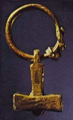 Image of Viking Mjolnir Thor Hammer Jewelry artefact