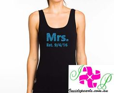 MRS,Mrs tank top, newlywed shirt, wedding gift, bridal gift, gift for bride, mrs shirt. Mrs Shirt, Bride Shirts, Bachelorette Shirts, Team Bride, Bridal Gifts, Just Married, Athletic Tank Tops, Trending Outfits, Bridal Shower