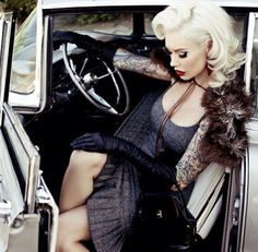 Riding in cars with rockabilly girls.