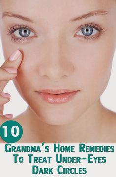 Grandma's Home Remedies To Treat Under-Eyes Dark Circles