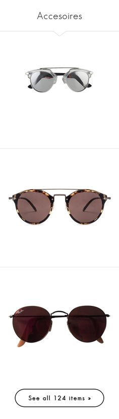 """""""Accesoires"""" by smilxngstars on Polyvore featuring accessories, eyewear, sunglasses, glasses, jewelry, silver sunglasses, silver glasses, sunnies, oliver peoples sunglasses und lens glasses"""