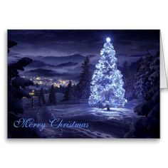 Merry Christmas Greeting Card~ #Christmas #holiday #holidays #tree