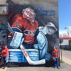 This Is The Montreal Canadiens Carey Price Mega Mural Graffiti Murals, Art Mural, Street Art Graffiti, Montreal Canadiens, Hockey Goalie, Hockey Players, Ice Hockey, Nhl, Fresco