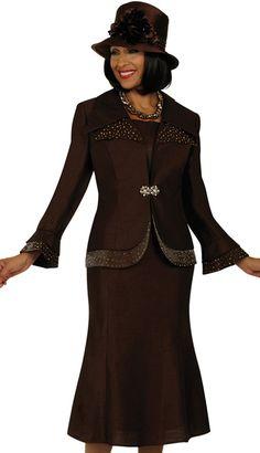Embellished Contrast GMI Church Suit  Limited: UPCDDG4292BRIH BrandGMI Church Suit Sale! $89.10