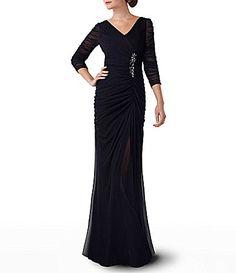 Adrianna Papell Plus Beaded Waist Gown | Dillards.com