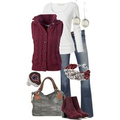 cute and casual...but I don't like the short boots...