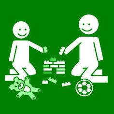 Pictogram: play together green