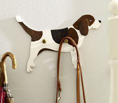 Coat or leash rack beagle -- tutorial in German