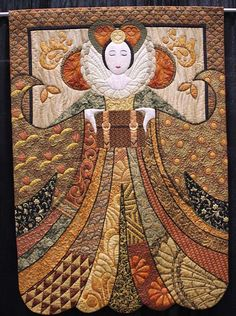 i admire anyone who has the talent, skill, patience, and artistic eye, who can create such beautiful art quilts.  it's like going to an art gallery. exquisite
