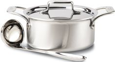 All-Clad BD553033 D5 Brushed 18/10 Stainless Steel 5-Ply Bonded Dishwasher Safe Soup Pot with Lid and Ladle Cookware, 3-Quart, Silver >>> Find out more about the great product at the image link.