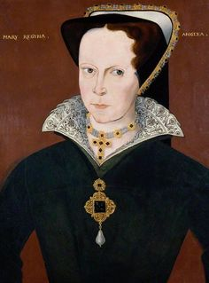 "Queen Mary Tudor, daughter of Henry VIII and Catherine of Aragon. Later known as ""Bloody Mary."""