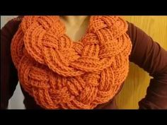 Bufanda Trenzada A Crochet (Ganchillo) - YouTube