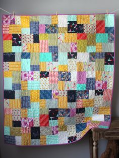 This beautiful quilt is completed and ready to ship to you! This modern, bold lap quilt features all the fabrics from Rashida Colemans Moonlit Heather Bailey, Boy Quilts, Girls Quilts, Bohemian Quilt, Neutral Quilt, Homemade Quilts, Toddler Quilt, String Art