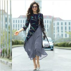 Georgette kurti designs makes a light fashion statement with bold looks. Here are the 15 latest and stylish georgette kurtis or kurta designs for women. Kurta Designs Women, Kurti Neck Designs, Kurti Designs Party Wear, Blouse Designs, Latest Kurti Designs, Stylish Dresses, Casual Dresses, Fashion Dresses, Stylish Clothes