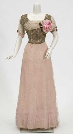 Evening gown from c. 1910