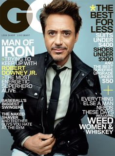 GQ cover with Robert Downey Jr, May 2013