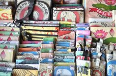 From rice sack to ruck sack....locally recycled souvenirs