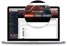 Grooveshark new design presentation element