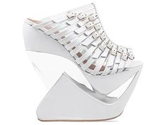 Jeffrey Campbell Zizzle in White Gold at Solestruck.com