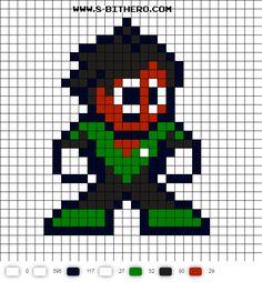 Soranik Natu Green Lantern 8-bit Perler Bead Pattern