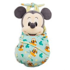 This cute plush doll is baby Mickey Mouse. He is wrapped in a blanket pouch that has a velcro closure. His blanket pouch features artwork with Pluto, stars and Mickey icons. 10 inches tall New with tags Authentic Disney Parks product Baby Mickey, Mickey Mouse Blanket, Disney Mickey Mouse, Disney Pillow Pets, Disney Plush, Disney Toys, Disney Babies, Disney Parks, Walt Disney