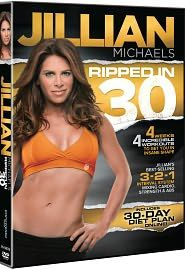 Jillian Micheals Ripped in 30  I love her 3-2-1 philosophy & that I get an amazing workout in under 30 minutes.