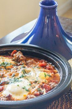 Kefta Mkaouara (Moroccan Meatball and Egg Tagine) - Tara's Multicultural Table Moroccan Tagine Recipes, Moroccan Dishes, Meat Recipes, Indian Food Recipes, Cooking Recipes, Ethnic Recipes, Moroccan Meatballs, Tagine Cooking, Morrocan Food