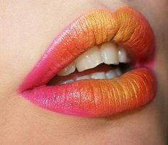 Pink and orange ombre