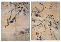 "important cultural property ""Koboku enkoh zu"" (right) |Hasegawa Tohaku (1539~1610)"