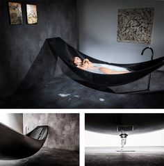 Hammock bathtub. That is all