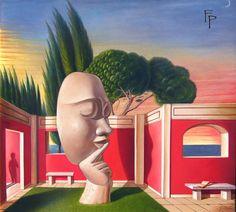 Hortus conclusus (il silenzio) Tempera all'uovo - olio su tela   50 x 60 © copyright Felice Pedretti, all rights reserved