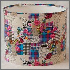 Eros - Hearts and Flowers Lampshade £35 from Sasparilla Design via Etsy
