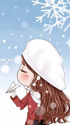 รูปภาพ art girl, beautiful, and sweet girl Cute Couple Cartoon, Cute Couple Art, Cute Love Cartoons, Anime Love Couple, Girl Cartoon, Hd Wallpaper Android, Chibi Wallpaper, Anime Chibi, Kawaii Anime