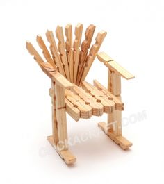 Clothespins Armchair (Doll Furniture) Pattern - How to Make Wooden Toys for Kids