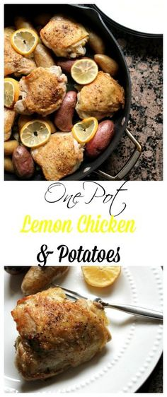 One Pot Lemon Chicken and Potatoes