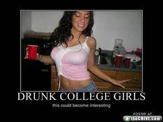 Amateur drunk college girls