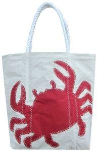 Medium Red Crab Recycled Sailcloth Bag