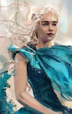 Daenerys Targaryen Game of Thrones by Majdish - Modern Daenerys Targaryen Art, Game Of Throne Daenerys, Khaleesi, Arte Game Of Thrones, Game Of Thrones Funny, Game Of Thrones Instagram, Game Of Thones, Motif Art Deco, Mother Of Dragons