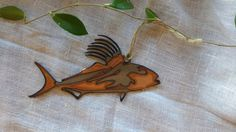 Rooster Fish: Steel and Copper by GowenStudios on Etsy