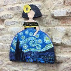 Guernica, Van Gogh, Vera Bradley Backpack, Art For Kids, Decoupage, Mixed Media, Art Deco, Dolls, Gallery