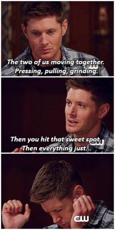 [gifset] And there go my ovaries....9x08 Rock and a Hard Place #SPN #Dean