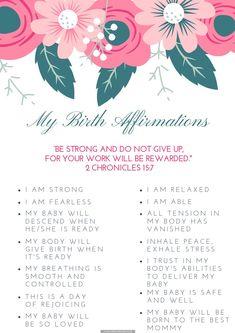 Pregnancy Prayer, Pregnancy Labor, Second Pregnancy, Pregnancy Affirmations, Birth Affirmations, Pregnancy Positions, Childbirth Education, Preparing For Baby, Having A Baby