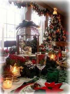 Jaulas y aves, dos estilos vintage para decoración de navidad. #NavidadVintage
