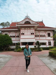 Pink house, builded more than 100 years in Prae Province Thailand.